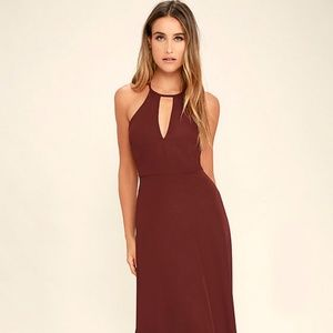 Lulus Burgundy Maxi Dress
